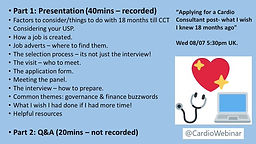 Applying for a cardio consultant post- what i wish i knew 18 months ago