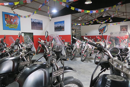 Nepal garage, Nepal motorcycle tour, Royal Enfield Nepal, Enduro motorcycle Nepal, Nepal tour package
