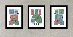 Red/Green/Blue Triptych