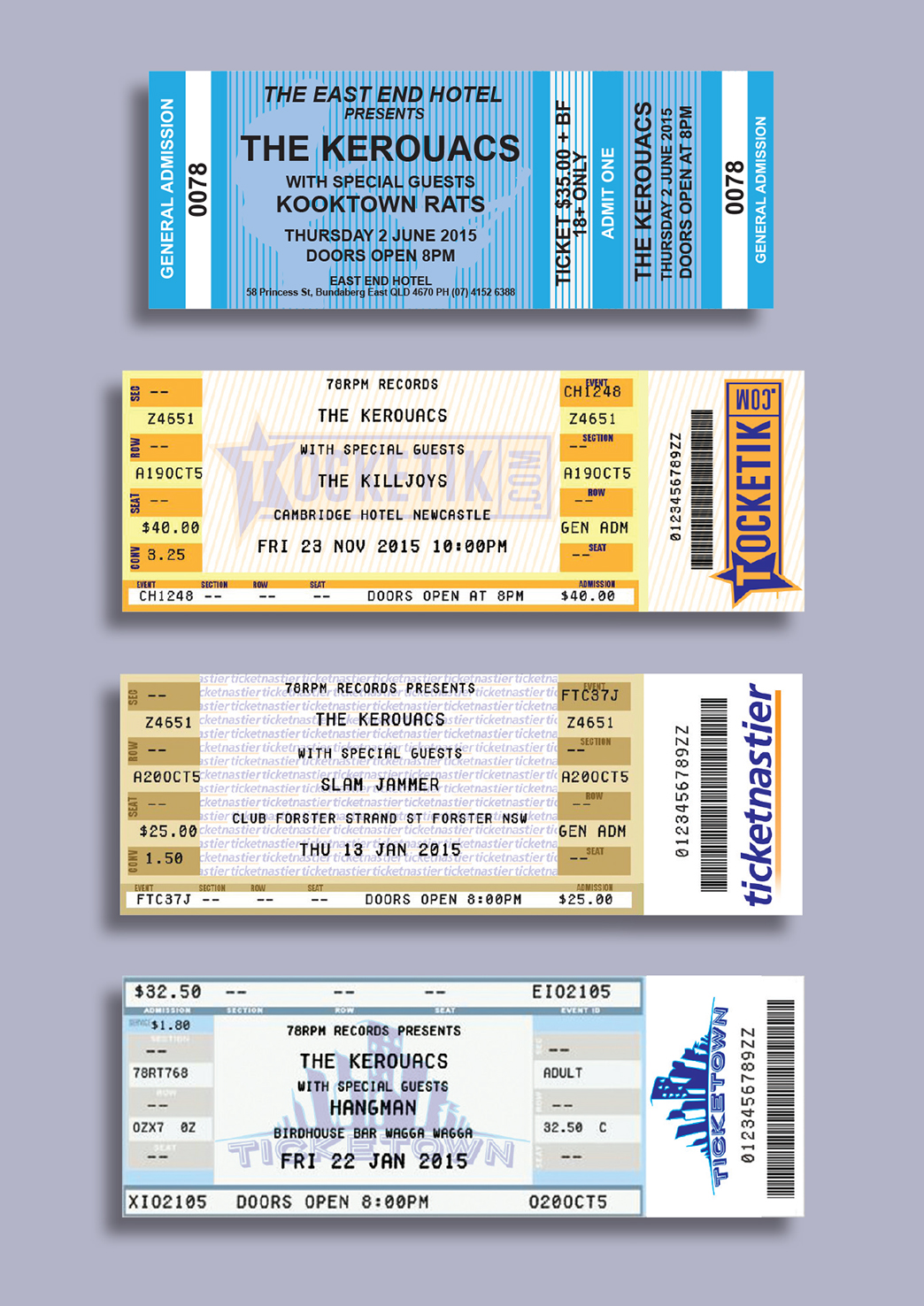 The Kerouacs gig tickets