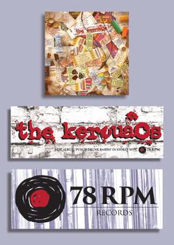 The Kerouacs promo stickers