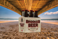 Brookes Beer 6-pack holder