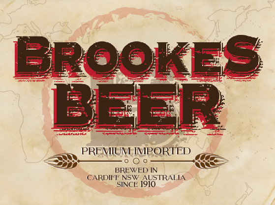 Brookes Beer label