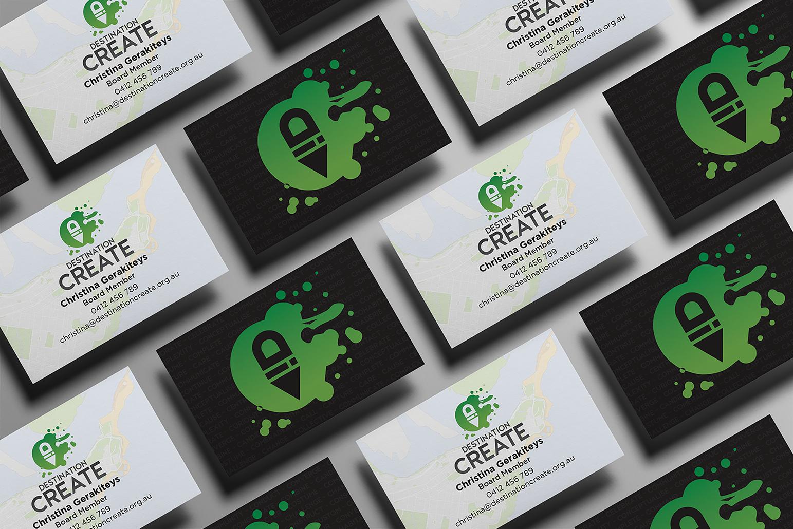 Destination Create business card