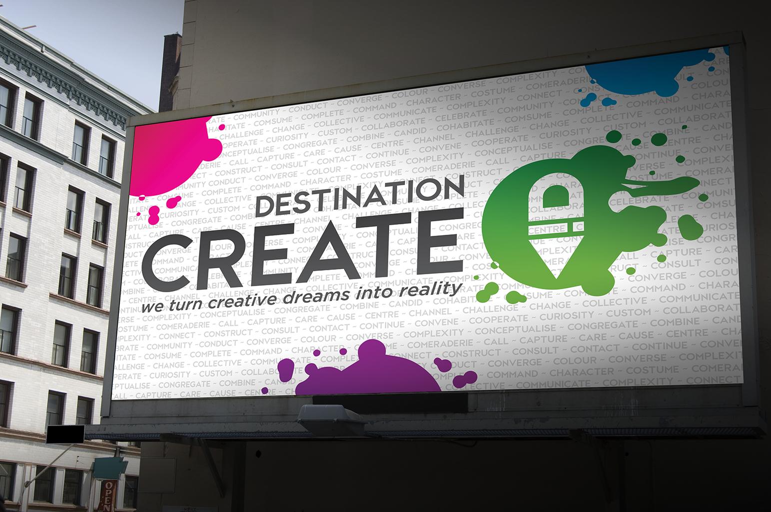 Destination Create billboard