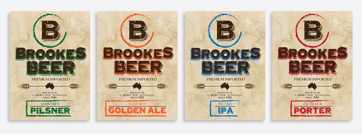 Brookes Beer label front