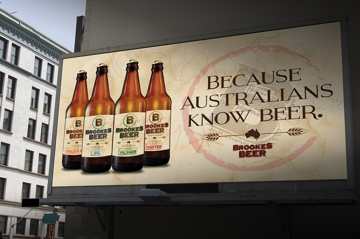 Brookes Beer billboard