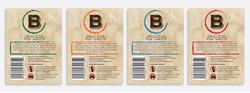 Brookes Beer label back