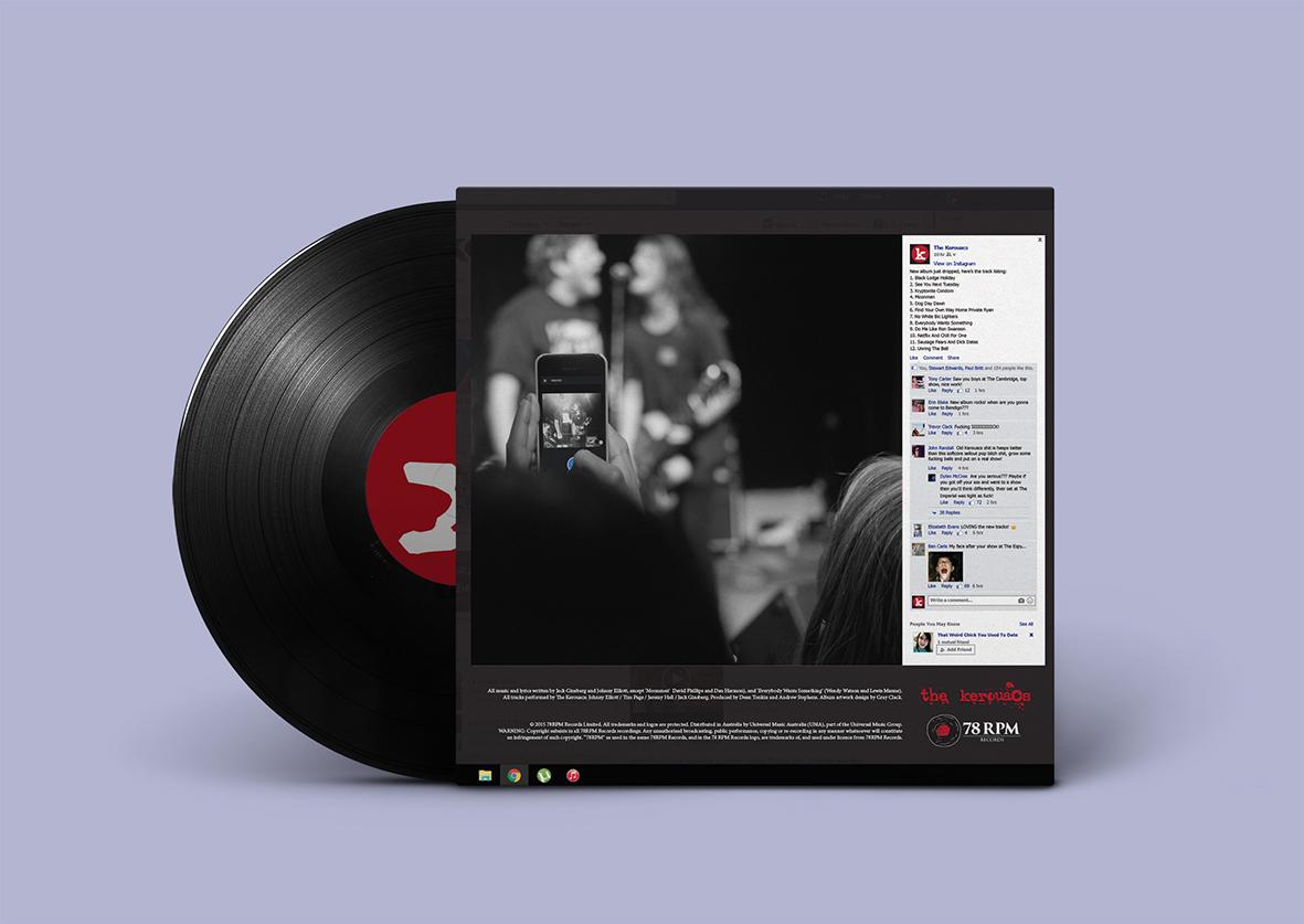 The Kerouacs album cover back