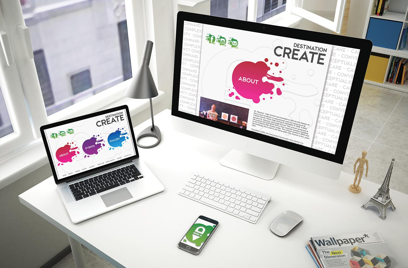 Destination Create web layouts