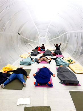 Public Space Yoga in the OURB Bubble