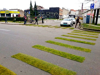 Traffic Gardening at Porte de Ninove