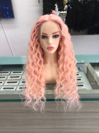 """Pink Full Custom Build 20"""" with 13x4 Lace Frontal"""