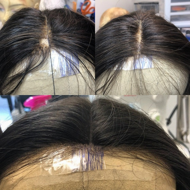 Patch repair, Hair retie, and hairline clean up