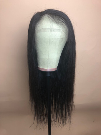 """Black Full Custom Build with side part 22""""with 13X4 Lace Frontal"""
