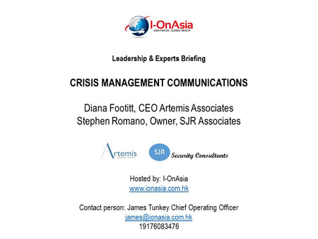 Event: Leadership Briefing Crisis Management Communications