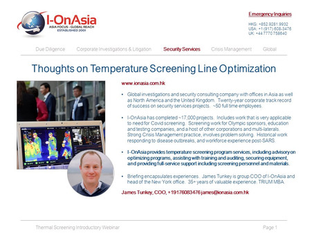 COO Briefing: Temperature Screening & Line Optimization