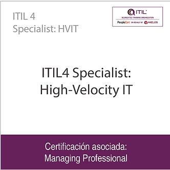 ITIL 4 Specialist: HVIT   ITIL4 Specialist: High-Velocity IT