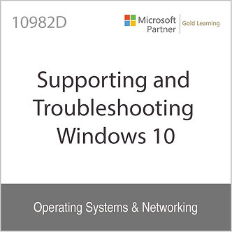 10982D | Supporting and Troubleshooting Windows 10