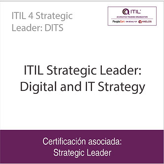 ITIL 4 Strategic Leader: DITS   ITIL Strategic Leader: Digital and IT Strategy