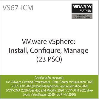 VS67-ICM | VMware vSphere: Install, Configure, Manage (V6.7)