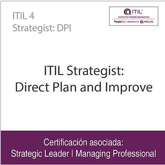 ITIL 4 Strategist: DPI   ITIL Strategist: Direct Plan and Improve