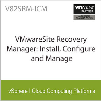 V82SRM-ICM   VMwareSite Recovery Manager: Install, Configure and Manage