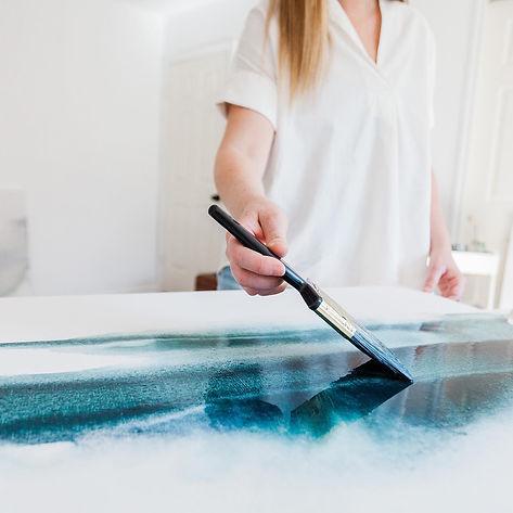 Abstract Artist, Rebecca King, The Custom Art Co.