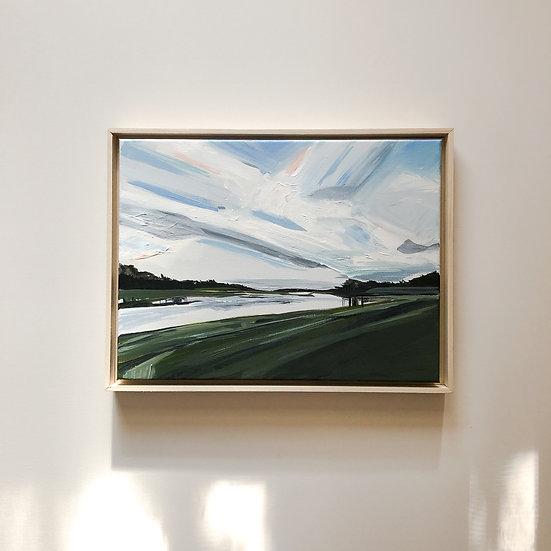 Cirrus Clouds   16x12   Original on Canvas