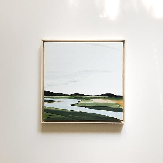 Backroad River Bank | 20x20 | Original on Canvas