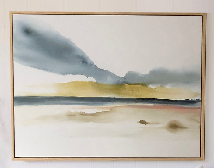 "Early fog over Mustang Island 36"" x 48"""