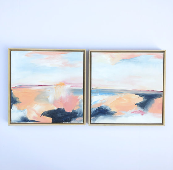 "Low Tide 12""x 12"" (set of 2)"