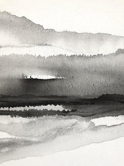 silhouette landscape print
