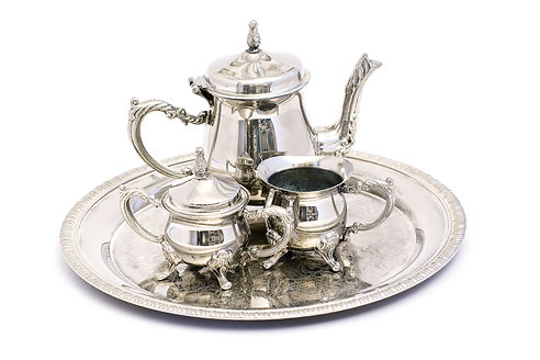 Antique Sterling Silver Tea Set With Tra