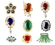 Gold,Platinum and Silver With Gemstone a