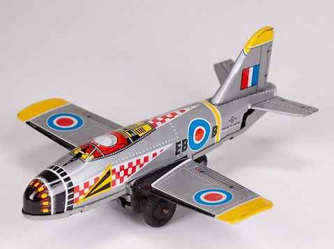 Vintage Japanese Tin Toy Plane.jpg
