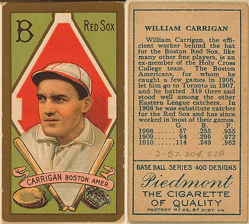 Piedmont Vintage Baseball Tobbaco Card.j