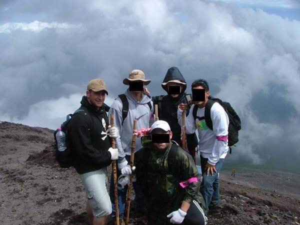 Mt. Fuji group photo.