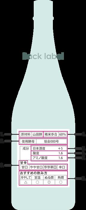 Rear Sake Bottle Example