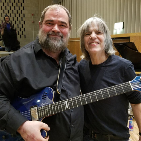With Mike Stern