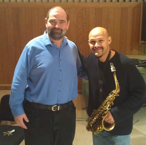 With Miguel Zenon