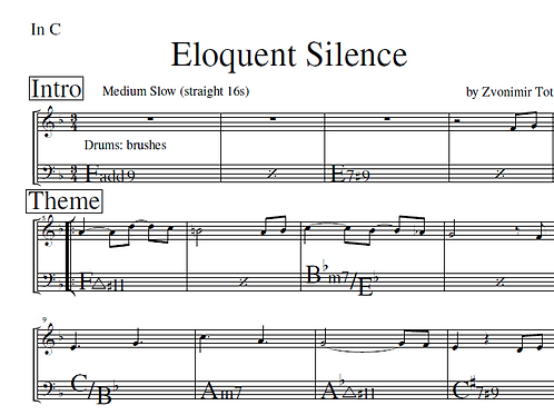 Complete PDF lead sheets from Zvonimir Tot's CD Eloquent Silence