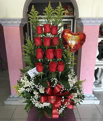 1 Docena de Rosas en Balcones