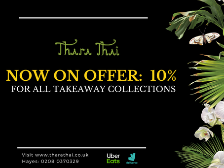 Now on offer: 10% for all takeaway collections