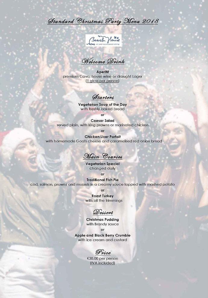 20180925-CHRISTMAS PARTY MENU STANDARDxx