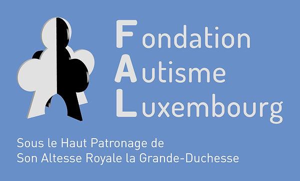 Logo FAL negatif fond bleu et Haut Patro