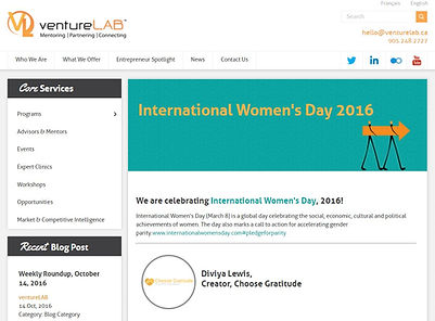 International Womens day blog feature Ve