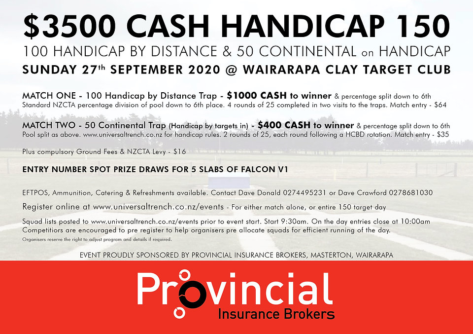 20th June Wairarapa Handicap Cash Handic