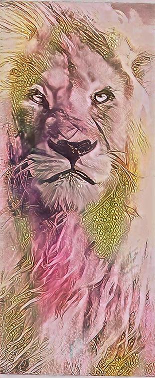 The lion ink acrlc johanna dunn art