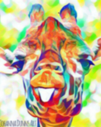 Giggling giraffe johanna dunns art mixed media